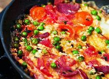Frittata z pomidorami, tymiankiem i salami - ugotuj