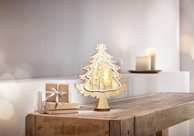 Świąteczne hity z Lidla: Drewniane ozdoby z oświetleniem LED