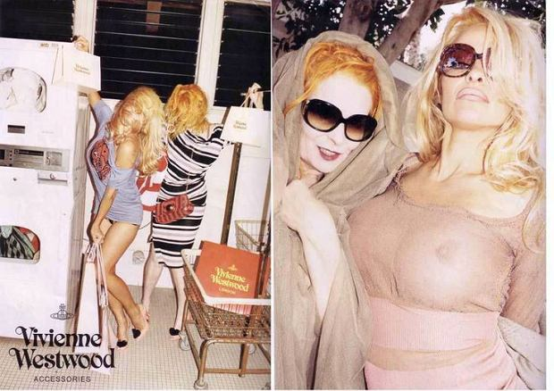 Pamela Anderson i Vivienne Westwood w starych kampaniach projektantki
