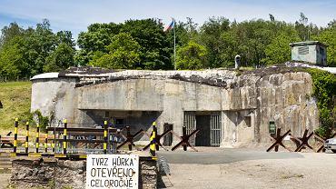 Fort i bunkier Hurka, dostępny dla zwiedzających, Czechy.