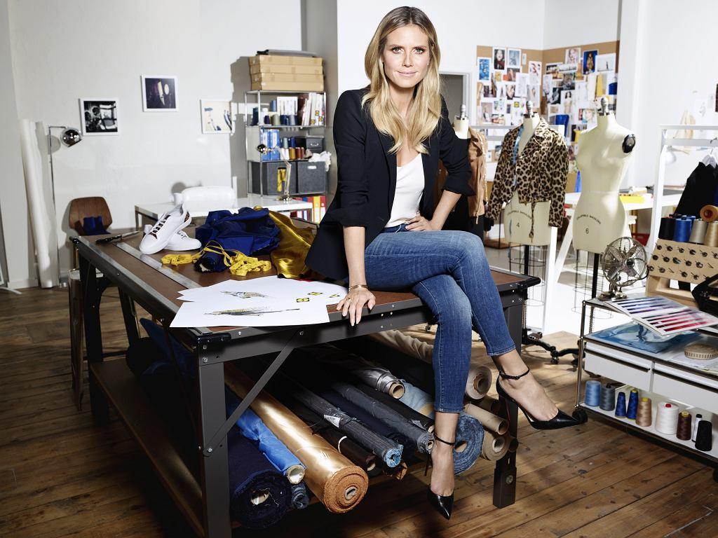 Heidi Klum w atelier, w którym powstawała kolekcja dla Lidla
