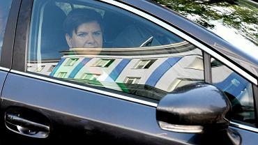 Beata Szydło w limuzynie