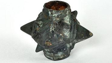 XII-wieczna buława z brązu, znaleziona na terenie Nadleśnictwa Lesko