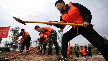 Powódź w rejonie Shanxi w Chinach