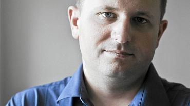 Prezes Zarządu Amber Gold Marcin Plichta w centrali firmy, 9 sierpnia 2012 r.