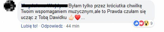 Nauczycielka Dawida Podsiadło komentuje jego wpis