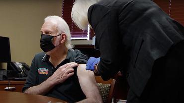 Gregg Popovich został zaszczepiony na koronawirusa