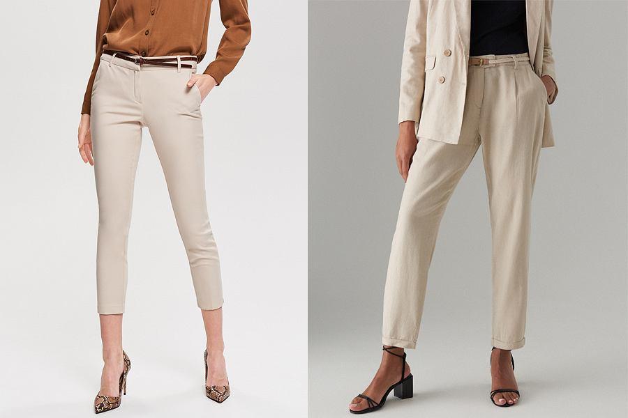 Beżowe spodnie - trend 2019!