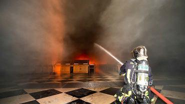 Pożar Notre Dame. Akcja gaśnicza