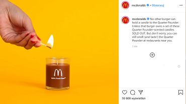 McDonald's wypuścił świeczki o zapachu kanapki McRoyal