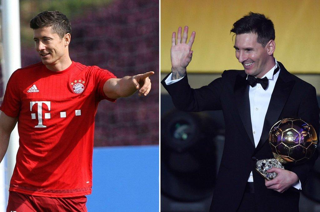 Złota Piłka. Robert Lewandowski, Lionel Messi