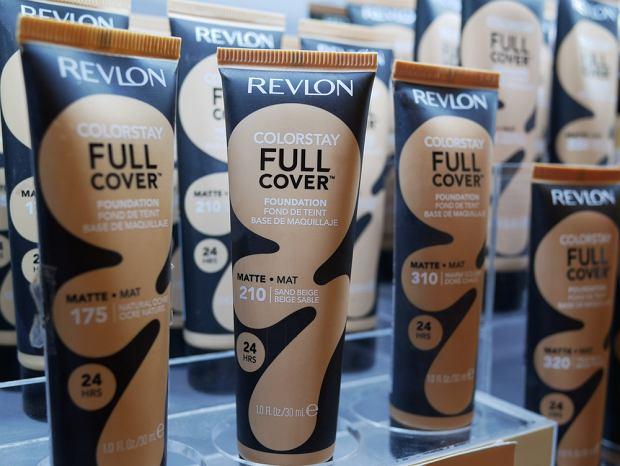 PETCHABURI,THAILAND-30 NOVEMBER 2019:Revlon cosmetics display on shelf for sale on the supermarket.