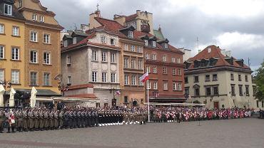 Uroczystości z okazji Narodowego Święta 3 Maja na pl. Zamkowym