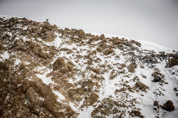 Andrzej Bargiel pod szczytem Chan Tengri