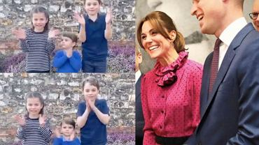 Charlotte, Louis, George, Kate, William