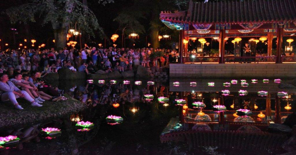 Festiwal światła W łazienkach Otwarty Ogród Chiński