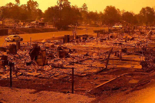 Pożary w Kalifornii. Keswick, niedaleko Redding