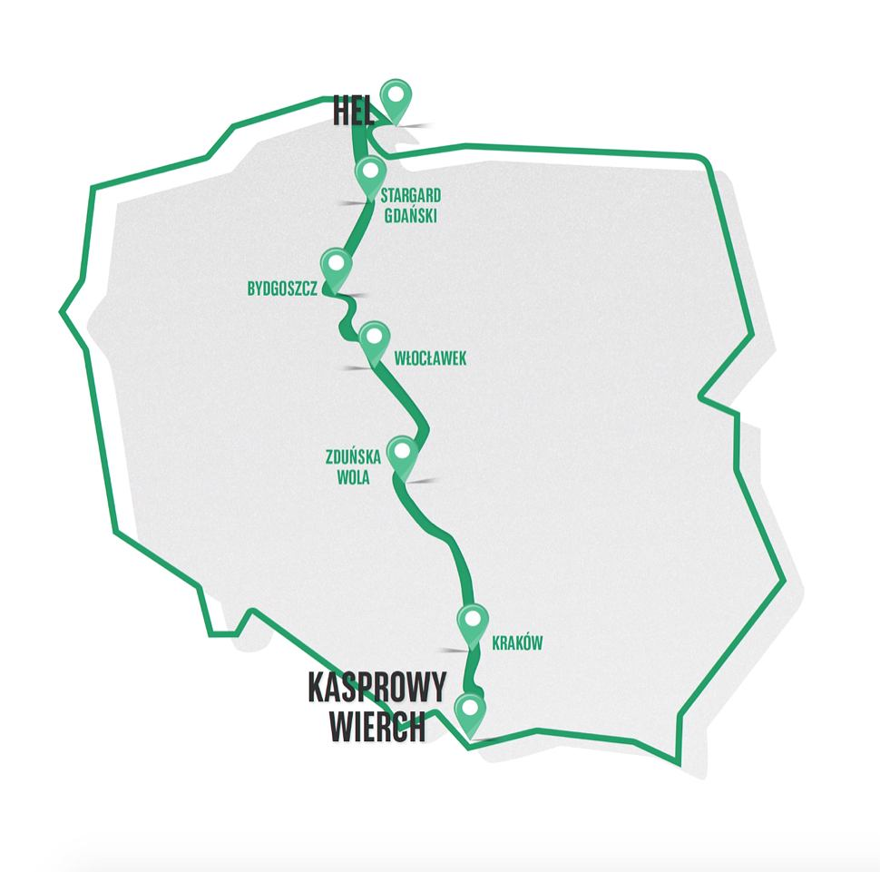 Od Tatr do Bałtyku - weź udział i podaj zmianę w najdłuższej charytatywnej sztafecie w Polsce