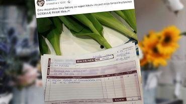 Właścicielka kwiaciarni pokazała rachunek za wynajem lokalu. 'I to jest moja tarcza kryzysowa'