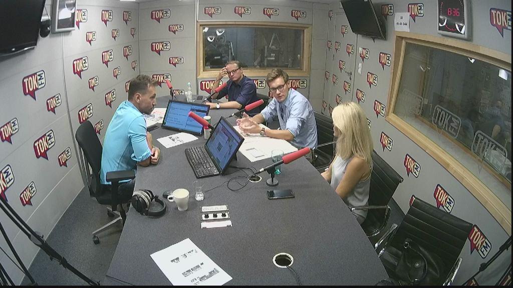 Bartłomiej Radziejewski, Jakub Pawłowski i Renata Grochal w Poranku TOK FM