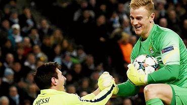 ...ale każdy chyba widział ten moment, w którym po zmarnowanej okazji Messi i Hart wydali się dobrze razem bawić