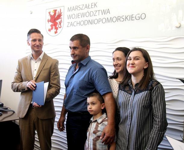 Andrij Sirowackij z rodziną u Marszałka woj. zachodniopomorskiego