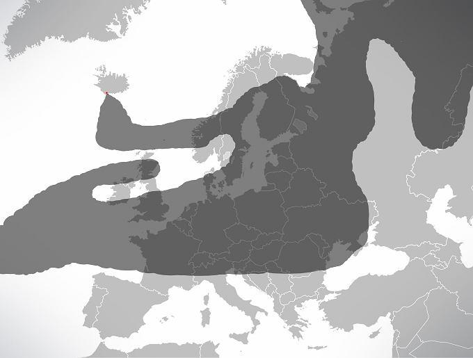 Tak wyglądało niebo nad Europą 17 kwietnia 2010 r.