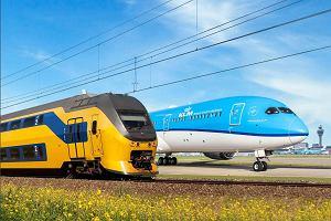 """""""A może jedź pociągiem, zamiast lecieć z nami?"""". Linie lotnicze KLM zniechęcają swoich pasażerów"""