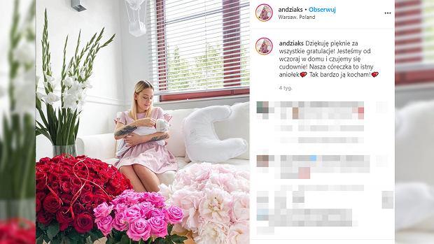 Andziaks zdradziła imię córki. Jest zagraniczne i królewskie