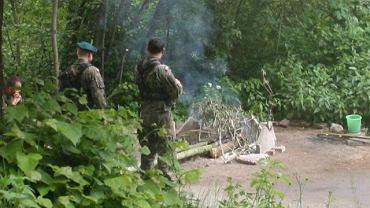 Polscy żołnierze przekroczyli granicę i utworzyli posterunek przy czeskiej kapliczce