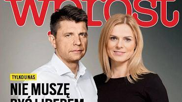 Ryszard Petru i Joanna Schmidt na okładce 'Wprost'