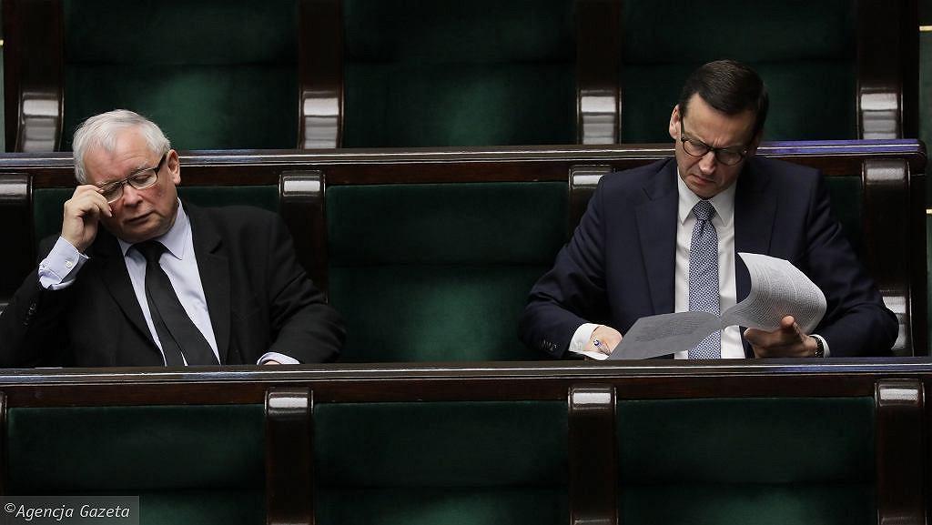 Na zdjęciu Jarosław Kaczyński i Mateusz Morawiecki