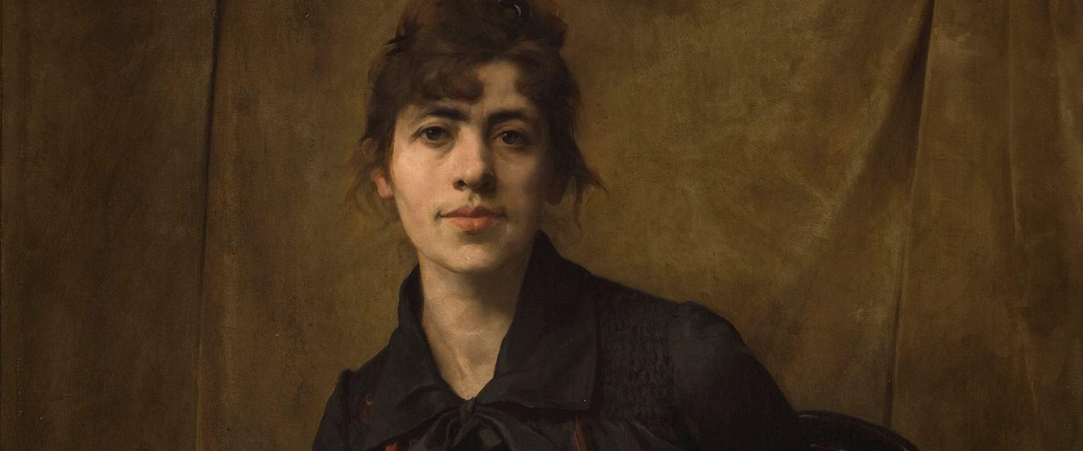 Anna Bilińska, Autoportret z paletą (fot. Pracownia Fotograficzna MNK)
