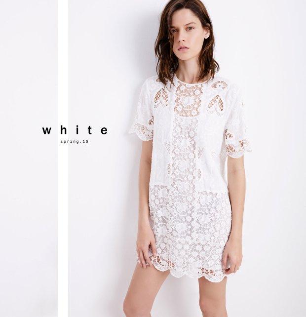 Nowa kolekcja Zara - biały lookbook wiosna 2015