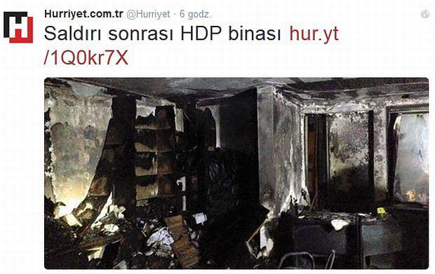 Spalone biuro HDP w Ankarze