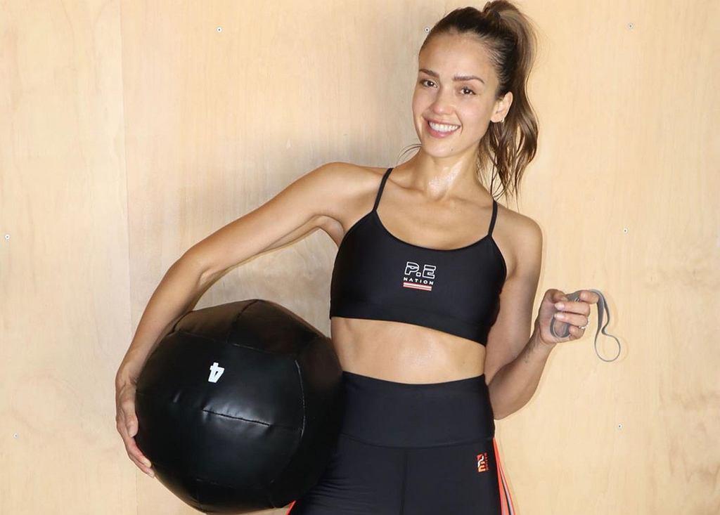 Jessica Alba - o ćwiczeniach