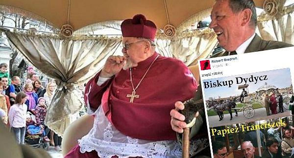 Biedroń komentuje słynne zdjęcie biskupa i posła