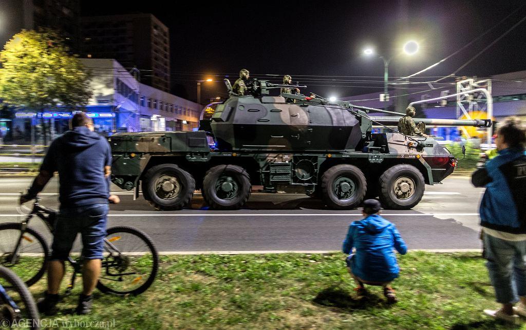 Katowice. Próba generalna przed defiladą z okazji Święta Wojska Polskiego