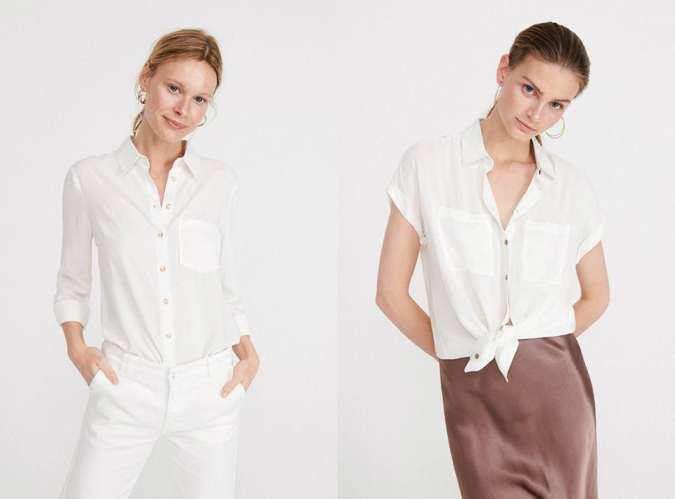 Białe koszule z Reserved