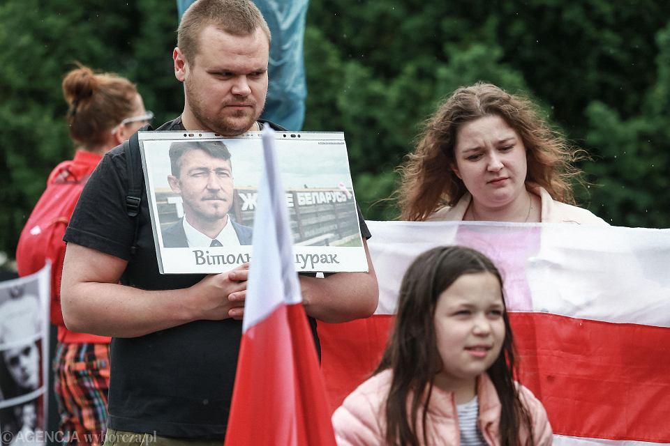 Wiec poparcia dla Białorusi walczącej o wolność
