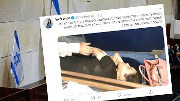 Izrael. Posłanka Emilie Moatti podczas głosowania w Knesecie