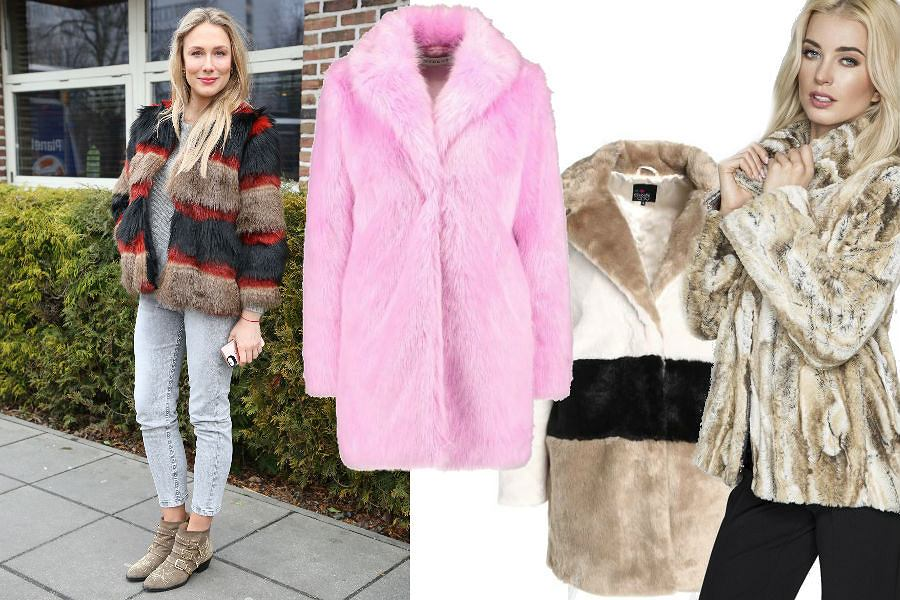 modne płaszcze ze sztucznego futra