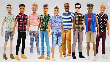 Firma Mattel zaprezentowała nowe modele lalki Ken.