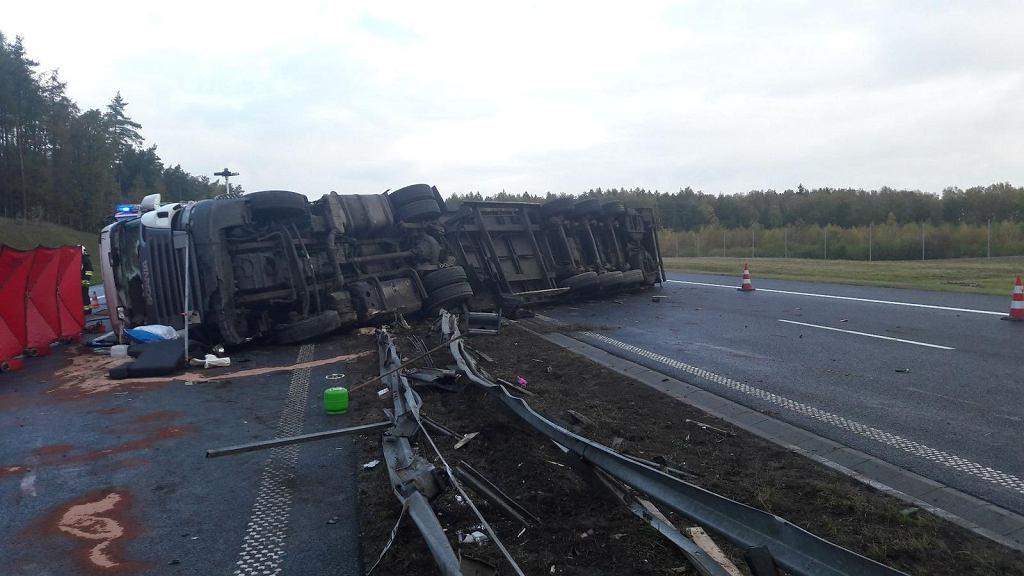 Śmiertelny wypadek na autostradzie A1