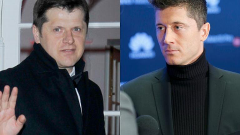 Cezary Kucharski i Robercie Lewandowskim