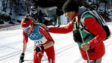 Justyna Kowalczyk i Aleksander Wierietielny na igrzyskach olimpijskich w Pjongczangu