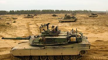 Czołgi M1 Abrams na poligonie w Drawsku Pomorskim