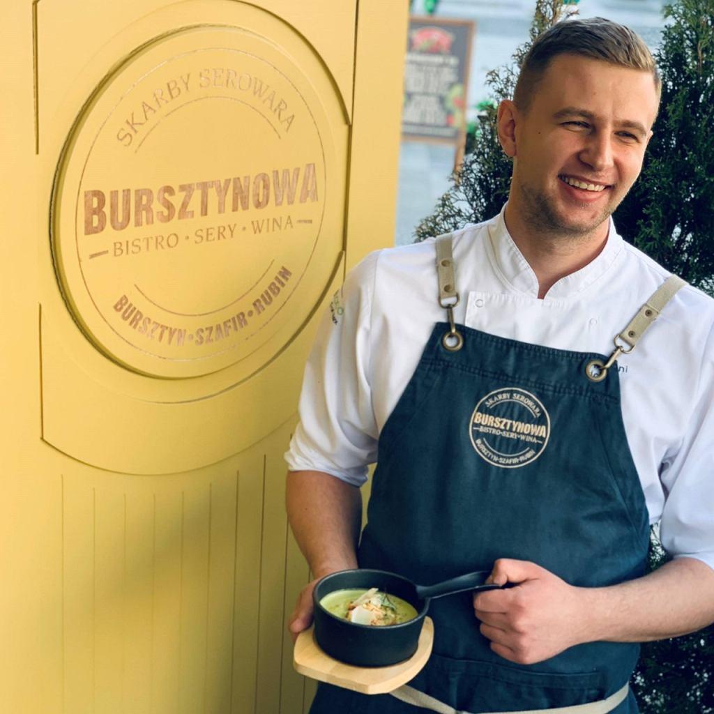 Wojtek Kaza, szef Kuchni restauracji Bursztynowa