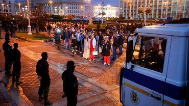 26.08.2020, Mińsk, OMON blokuje protesty