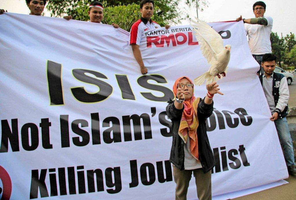 Protest przeciwko ISIS